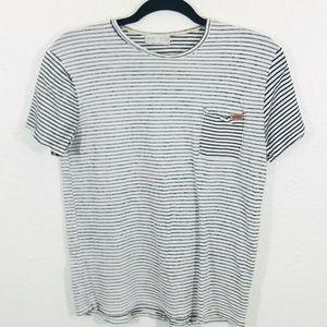 Zara Boys Collection Striped Crewneck T-Shirt